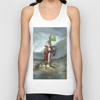 kermit Tank Tops featuring Kermit the Knight by Alberto Camara