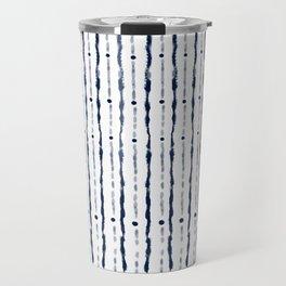 Stripes Indigo Travel Mug