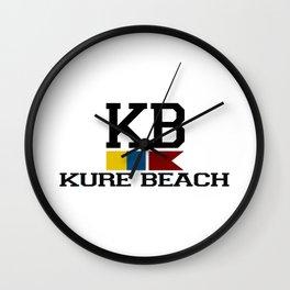 Kure Beach - North Carolina. Wall Clock