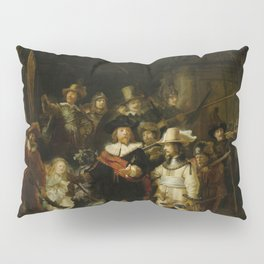 "Rembrandt Harmenszoon van Rijn, ""The Night Watch"", 1642 Pillow Sham"