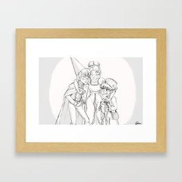 Over the Garden Wall - Beatrice and her Boys Framed Art Print