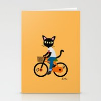 cycling Stationery Cards featuring Summer cycling by BATKEI
