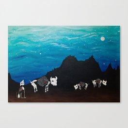 Bison At Night Canvas Print