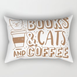 Books, cats and coffee Rectangular Pillow