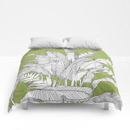 Banana Leaves Illustration - Green Comforters