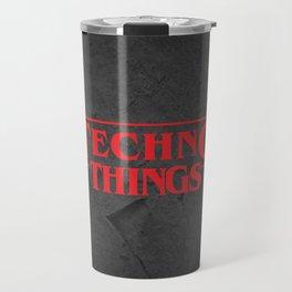 Techno Things. For all techno Djs. Travel Mug