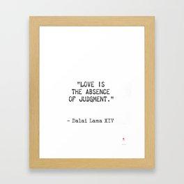 Dalai Lama quote Framed Art Print