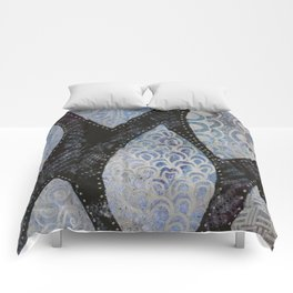 Silver Leaves Comforters