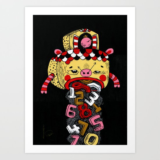 How much Time do we have left (CLOCK) Art Print