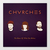 chvrches Canvas Prints featuring CHVRCHES fanart  by Andrea Solenghi