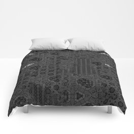 Love the strangeness in your thoughts. Vintage gothic pattern. Typography. Comforters