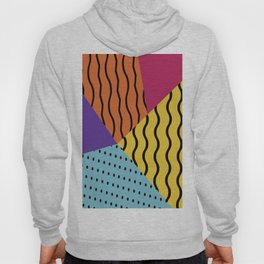 background abstract memphis chevron Hoody