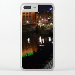Mooned Abysses of Night Clear iPhone Case