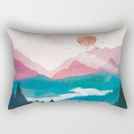 Wilderness Becomes Alive at Night II Rectangular Pillow