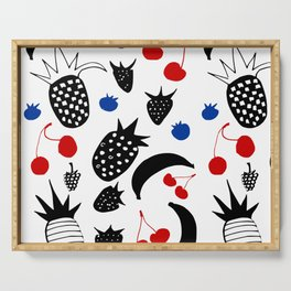 Fruit Salad white Serving Tray
