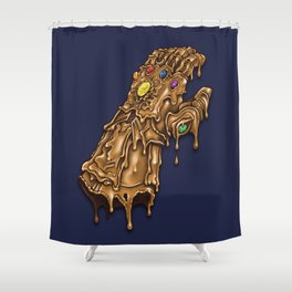 Melted Infinity Gauntlet Shower Curtain