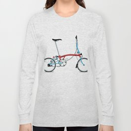 Folding London Brompton Bicycle Long Sleeve T-shirt