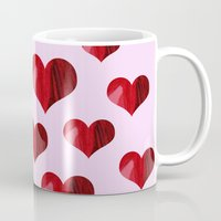 hearts Mugs featuring Hearts by Marjolein