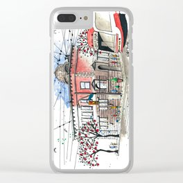 Toronto Street Car Clear iPhone Case