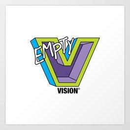 Empty V (purple) Art Print