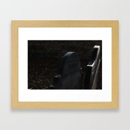 Grave 1 Framed Art Print