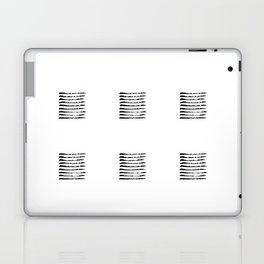 Black striped windows Laptop & iPad Skin