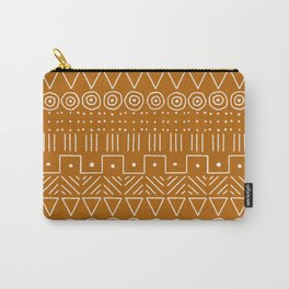 Mudcloth Style 1 in Orange Carry-All Pouch