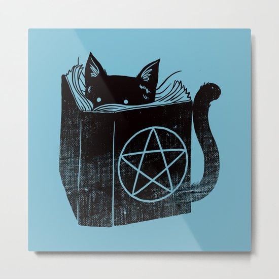 WITCHCRAFT CAT (Blue) Metal Print