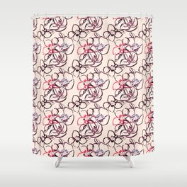 Flower Watercolor Pattern design by Mahsawatercolor Shower Curtain