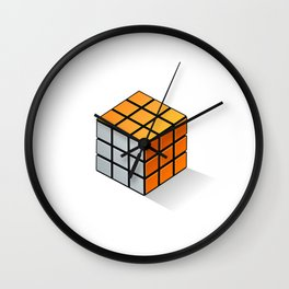 Rubik's Cube 3D Design Wall Clock