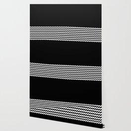 Black & Chevron (Black/White) Wallpaper