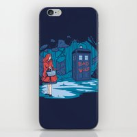 hallion iPhone & iPod Skins featuring Big Bad Wolf by Karen Hallion Illustrations