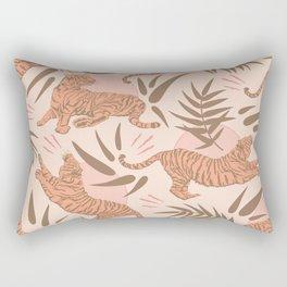 Vintage, Boho Tigers and Bamboos Rectangular Pillow