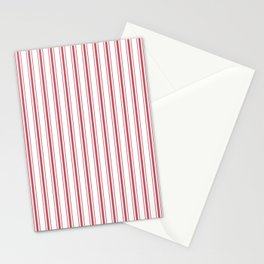 Mattress Ticking Wide Striped Pattern in USA Flag Red and White Stationery Cards