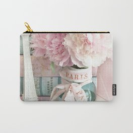 Shabby Chic Eiffel Tower Paris Peonies  Carry-All Pouch