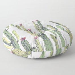 cactus drawing Floor Pillow