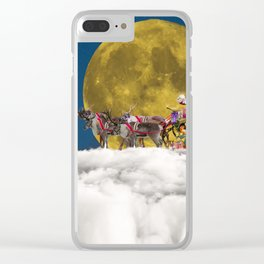 Santa and His Sleigh Clear iPhone Case