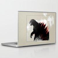 godzilla Laptop & iPad Skins featuring Godzilla by Sabine Israel