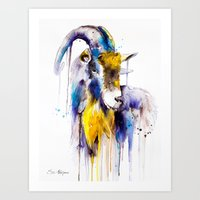 goat Art Prints featuring Goat  by Slaveika Aladjova