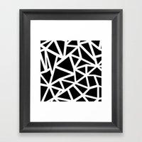 Ab Outline Thicker Black Framed Art Print