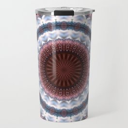 Trendy details of warm and cold in mandala Travel Mug