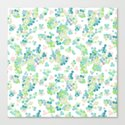 Blue green polka dots on a white background . by fuzzyfox85
