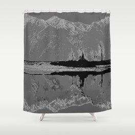 Knik River Mts. Pop Art - 3 Shower Curtain