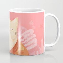 Cute Cat in a Kimono Drinking Matcha Tea and Eating Dango Coffee Mug