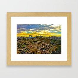 HDR Sunrise on the Mesa Framed Art Print