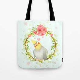 With Love From The Sweetest Cockatiel Tote Bag