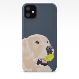 Golden Retriever with tennis ball iPhone Case