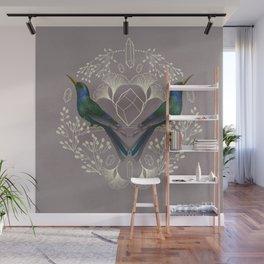 Endurance Crystal Grid in Mauve Wall Mural