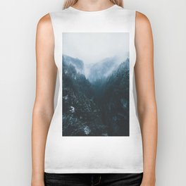 Foggy Forest Mountain Valley - Landscape Photography Biker Tank