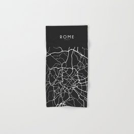Rome, Italy Street Map Hand & Bath Towel